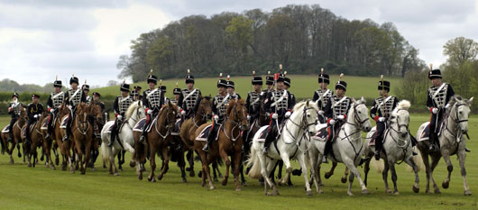 The canter past of The Light Cavalry